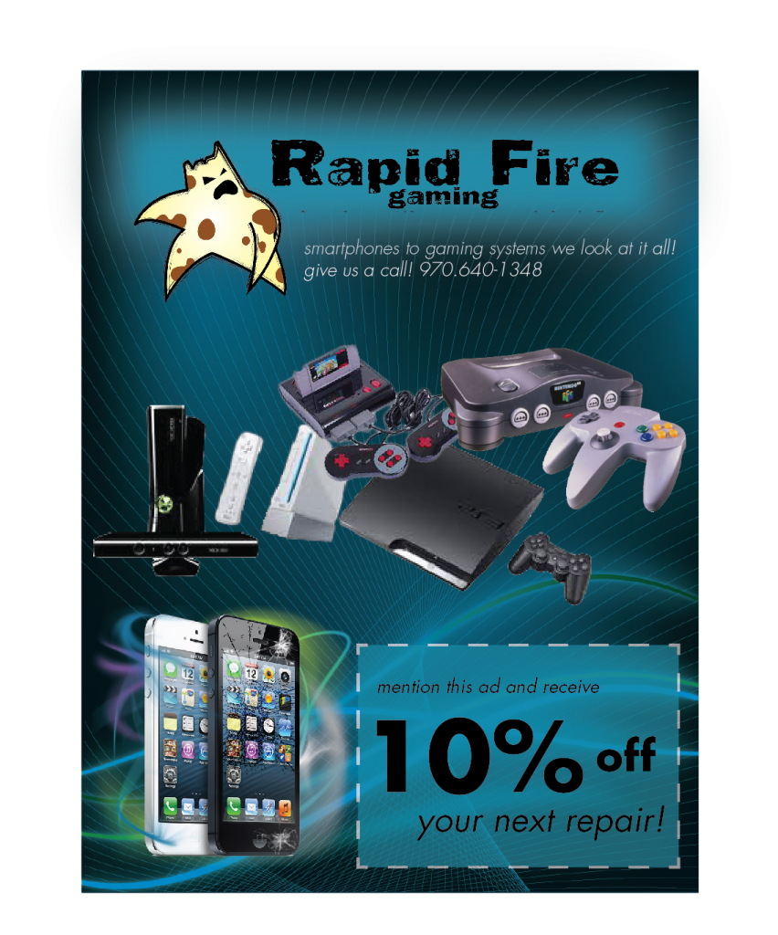 Rapid Fire Gaming, Rapid Fire Gaming Video game system repair, iphone repair, ipad repair, grand Junction iphone repair